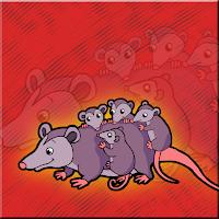 G2J Opossum Family Escape