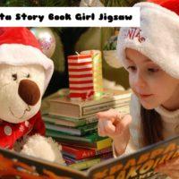 Santa Story Book Girl