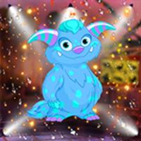G4K Lovely Blue Monster Escape