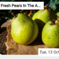 Fresh Pears In The Autumn…