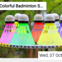 Colorful Badminton Shuttl…