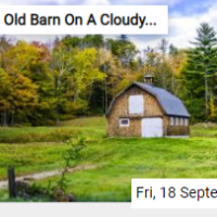 Old Barn On A Cloudy Autumn Day Jigsaw