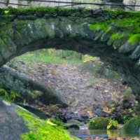 Moss Covered Stone Bridge