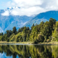 Lake Matheson And The Southern Alps